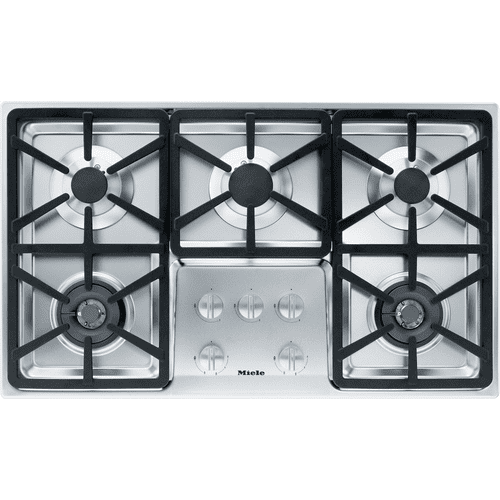 KM 3474 G - Gas cooktop with 2 dual wok burners for particularly versatile cooking convenience.