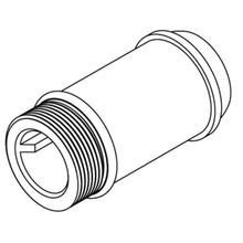 """Commercial 3-3/4"""" delany supply extension nipple"""