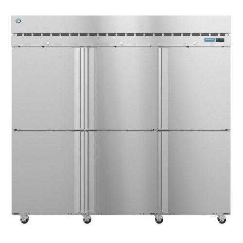 R3A-HS, Refrigerator, Three Section Upright, Half Stainless Doors with Lock