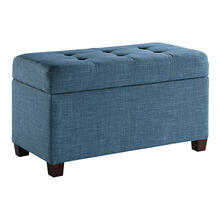 Fabric Storage Ottoman In Blue