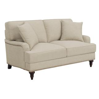 See Details - Abby Loveseat W/Pillows in Heirloom Natural / Linen