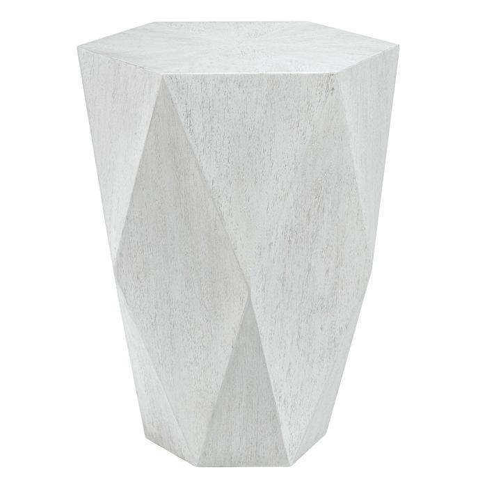 Uttermost - Volker Side Table, White