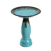 Brandy - Teal Glaze Birdbath
