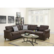 Kagiso Modular 2pc Sectional Sofa Set, Dark-coffee