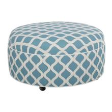 See Details - Round Ottoman with Plain Top/Casters