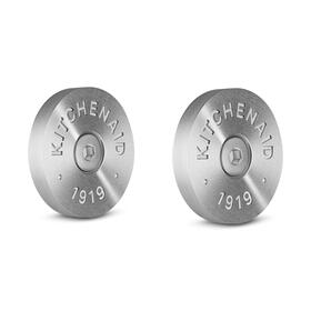 KitchenAid® Commercial-Style Range Handle Medallion Kit - Silver