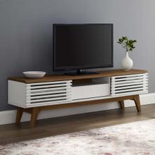 "Render 59"" TV Stand in Walnut White"