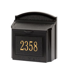 See Details - Wall Mailbox Package - Black/Gold