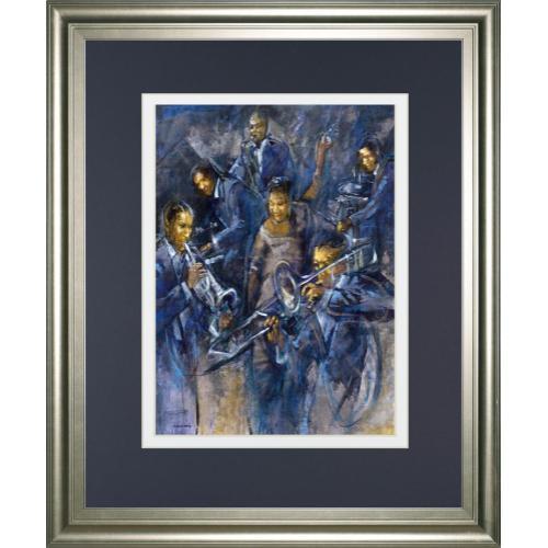"""""""Basin St. Swing"""" By Daniels Framed Print Wall Art"""