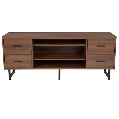 Flash Furniture - Lincoln Collection TV Stand in Rustic Wood Grain Finish