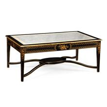 Black & eglomise rectangular coffee table
