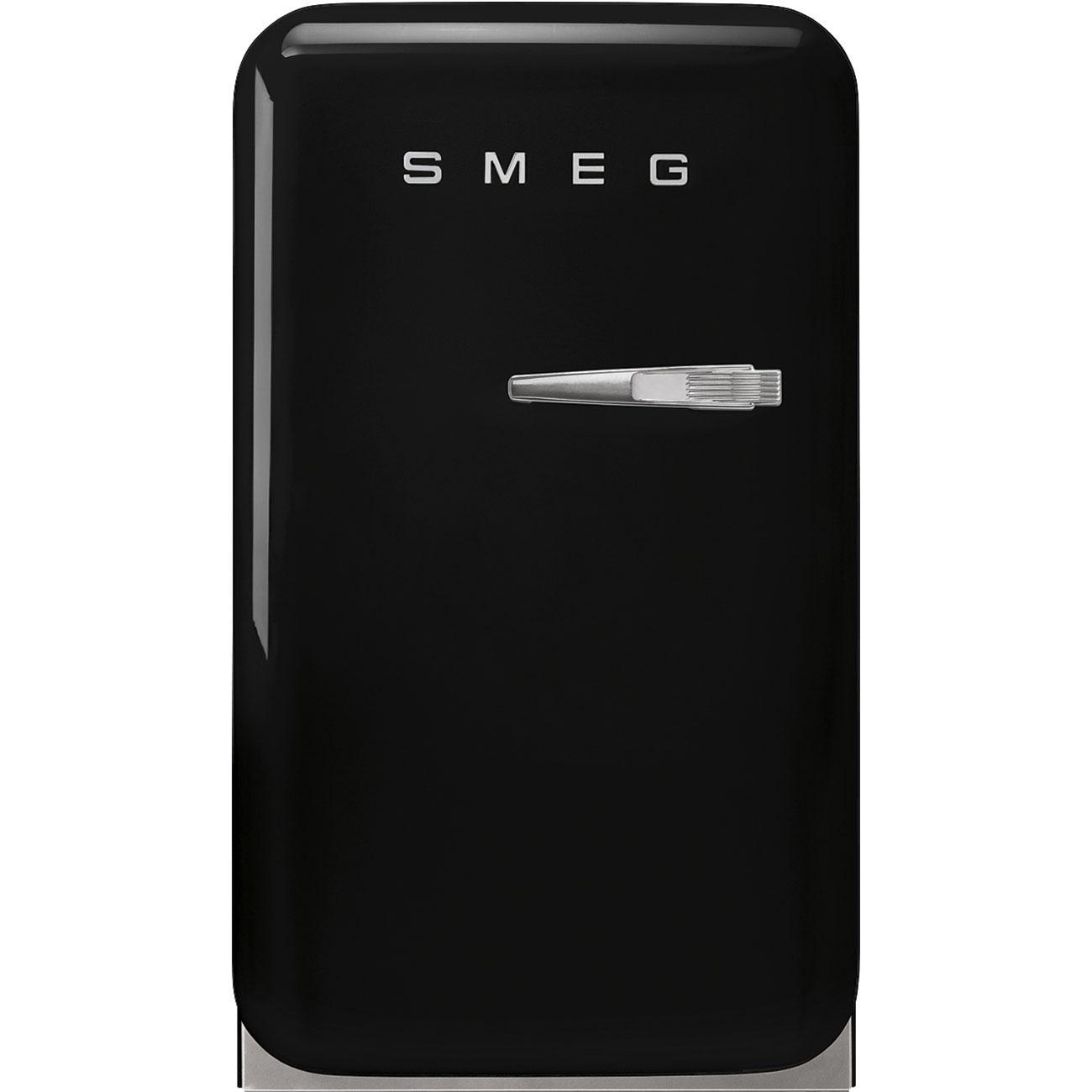 SmegRetro-Style Mini Refrigerator, Left-Hand Hinge, Black