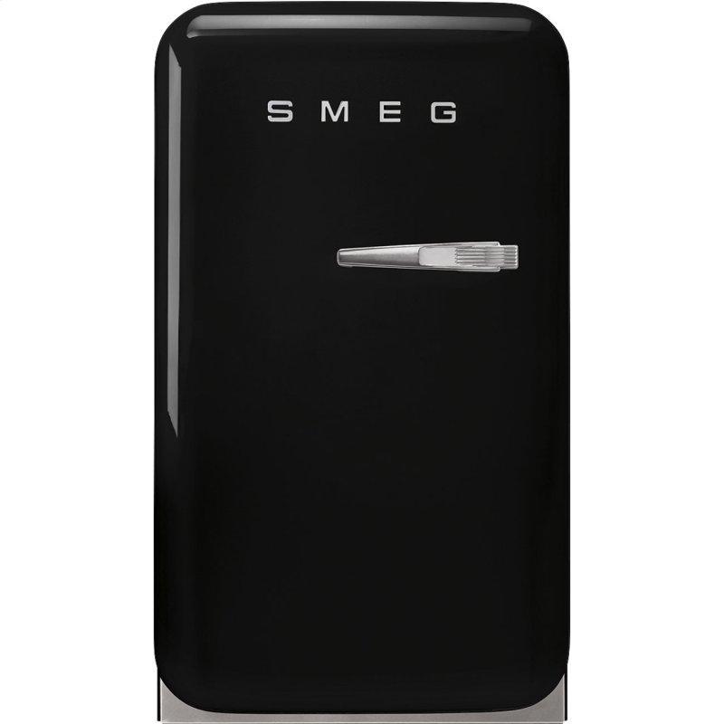 Retro-Style Mini Refrigerator, Left-hand hinge, Black