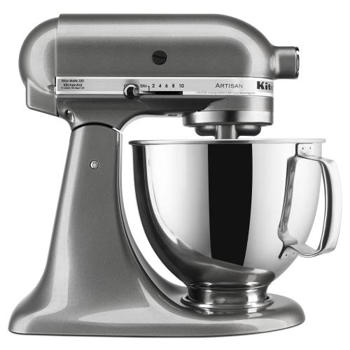 Artisan® Series 5 Quart Tilt-Head Stand Mixer - Medallion Silver