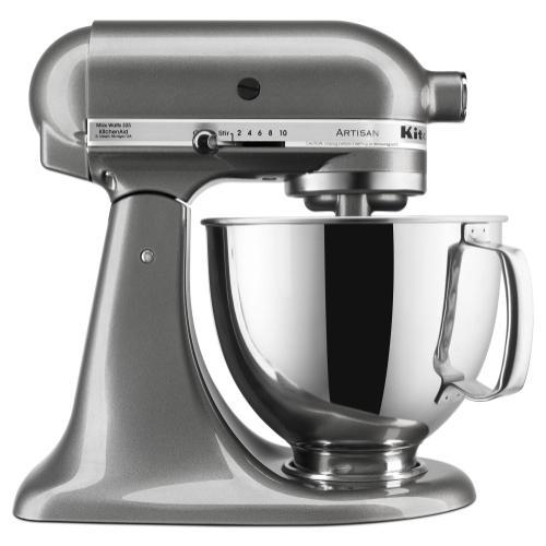 KitchenAid - Artisan® Series 5 Quart Tilt-Head Stand Mixer - Medallion Silver