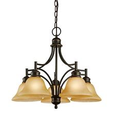 Bristol 5-Light Oil Rubbed Bronze Downlight Chandelier #504167