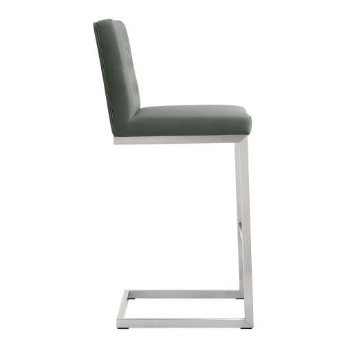 Product Image - Helsinki Grey Stainless Steel Barstool (Set of 2)