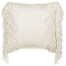 Natural Bobble & Fringe Pillow