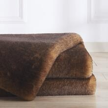 Soft Cozy Durable Faux Fur Whisper Area Rug by Rug Factory Plus - 5' x 7' / Black Tan