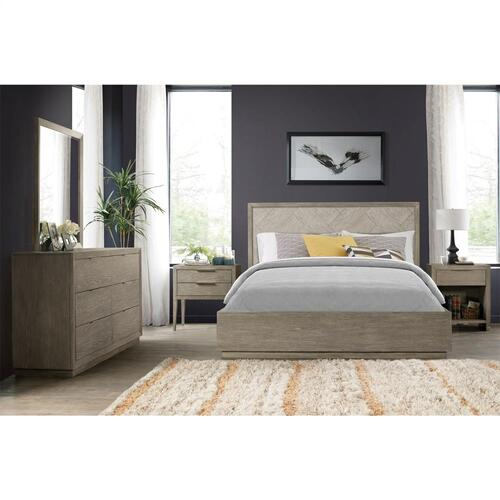 Zoey - Queen/king Single Bed Rail - Urban Gray Finish