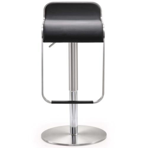 Tov Furniture - Napoli Black Stainless Steel Barstool