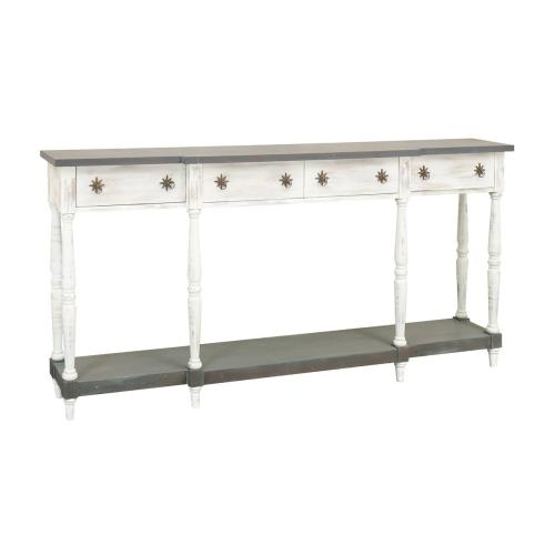 Simpson 4-drawer Console Table In White