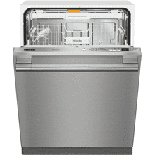 Fully-integrated, full-size dishwasher with hidden control panel, cutlery tray and CleanTouch Steel panel
