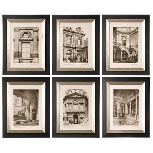 Paris Scene Framed Prints, S/6