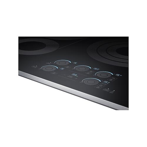 "36"" Smart Electric Cooktop with Sync Elements in Stainless Steel"