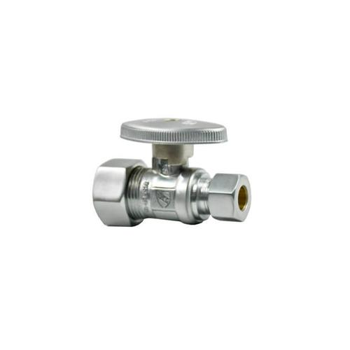 Product Image - Brass Oval Handle with 1/4 Turn Ball Valve - Lead Free - Straight - Tuscan Brass