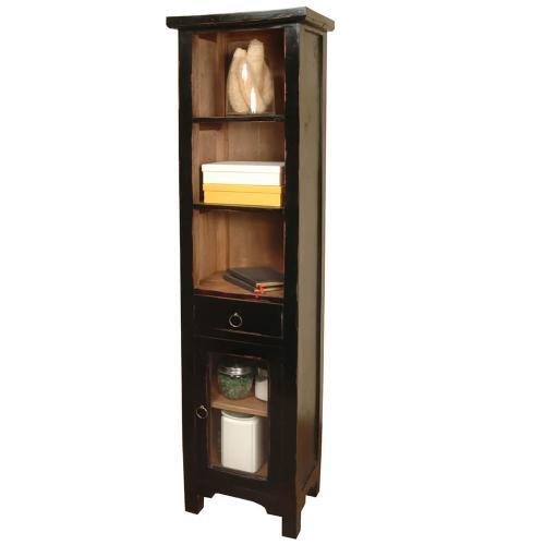 Tall Narrow Cabinet - Antique Black