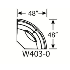 Sectional Component-Armless Wedge, Skirted.