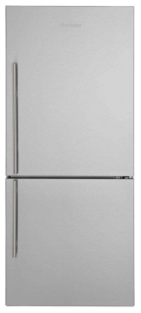 Blomberg Appliances30in Width Bottom Freezer/fridge 18 Cuft, Wrapped Stainless Doors, Stainless Handles