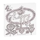 """Happy"" Magnet Block. Product Image"