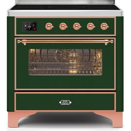 "36"" Inch Emerald Green Freestanding Range"