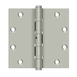 "5"" x 5"" Square Hinges, Ball Bearings - Brushed Nickel"
