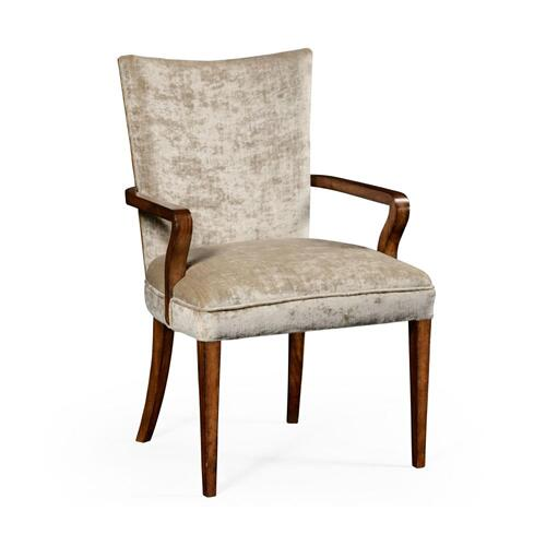 Biedermeier style walnut dining armchair