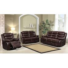 8055 BROWN 3PC Air Leather Living Room SET