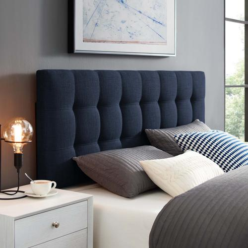 Modway - Lily Queen Upholstered Fabric Headboard in Navy