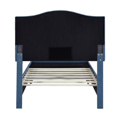 Accentrics Home - Twin Tufted Storage Bed in Denim