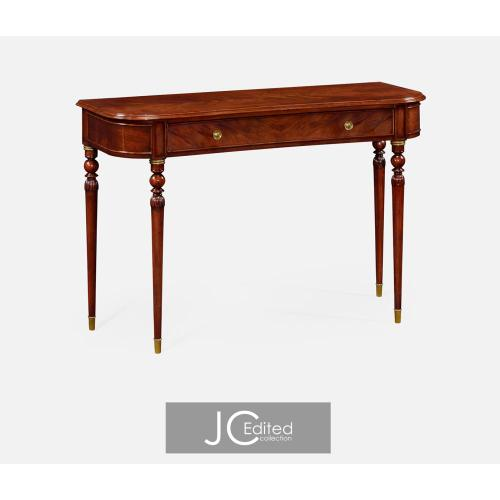 Console table of drawer in antique mahogany