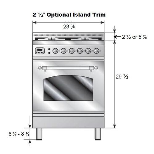 Nostalgie 24 Inch Gas Liquid Propane Freestanding Range in Glossy Black with Chrome Trim