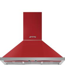 "36"" Portofino Chimney Hood, Red"