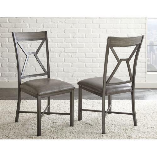 Alamo Gray PU Side Chair