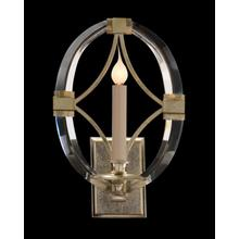 Bent-Crystal One-Light Sconce