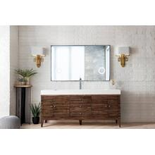 "Linear 72"" Single Bathroom Vanity, Mid Century Walnut"