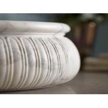 See Details - Round Decorative Vessel - Calacatta Borghini