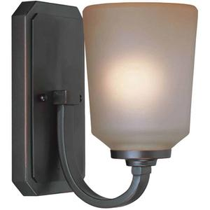 Wall Lamp, Aged Copper W/L.AMBER Glass Shade, Type A 60w