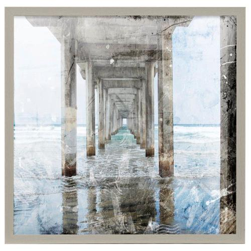Style Craft - Postcard from the Pier II  32in X 32in Promotional Framed Print Under Glass  Ready to Hang