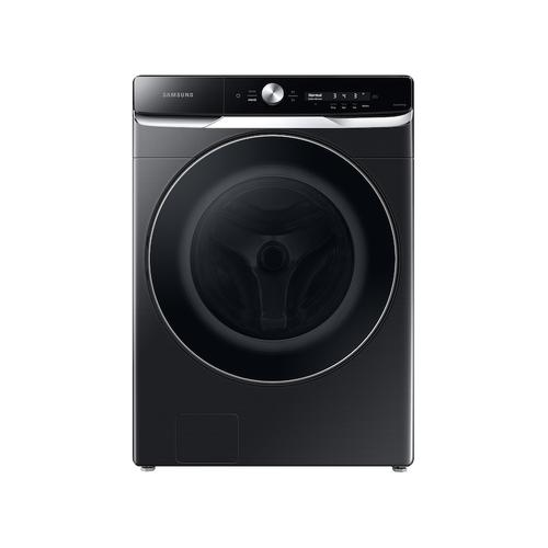 Samsung - 5.0 cu. ft. Extra-Large Capacity Smart Dial Front Load Washer with OptiWash™ in Brushed Black